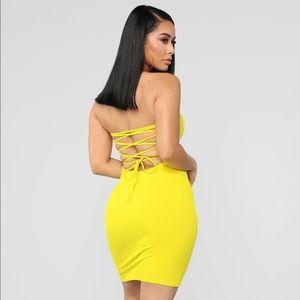 Fashion Nova Dresses - Sexy yellow dress